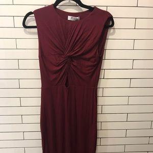 Anthropologie maroon dress